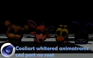 C4d Coolioart whitered animatronic port no root by Popi01234