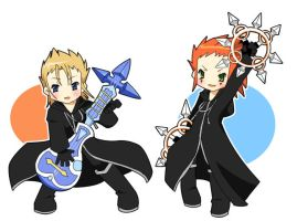 Demyx and Axel by sho-and-gaara