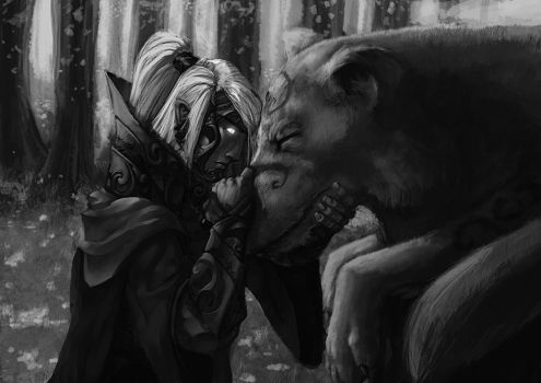 Silmarillion - Orome and Huan by pulyx