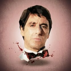Tony Montana Low Poly by riccardocurin