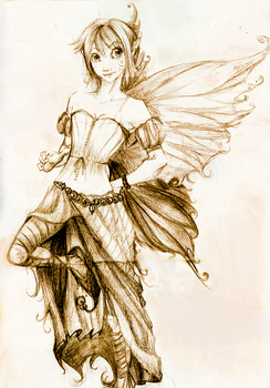 Fairy Sketch by Pistols-of-Porcelain