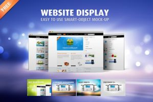Free Website Showcase Mock-Up by templay-team