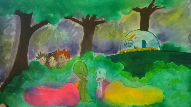 An Alien has a sleepover in the forbidden forest by PineapplesAreReal