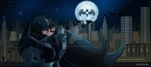 Batman and catwoman by Fufunha