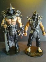 Shredder and Super Shredder Custom Action Figures by FigureHunterCustoms