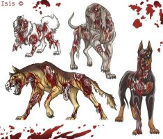 Zombiedogs original by IsisMasshiro