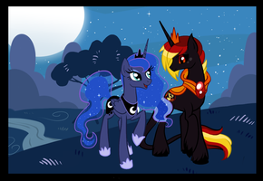 Luna and Ignus by spock-sickle