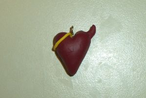 Angel and Devil Heart Pendant by Lisa99