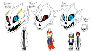 The Gaster Blasters [Before] by FukuroMami555