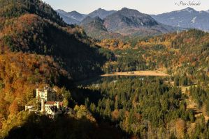 Castle Hohenschwangau.(ather perspectiv) by Phototubby