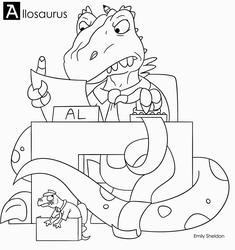 A is for Allosaurus by ersheld