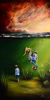 Subconscious V - horse riding by surrealpaintings