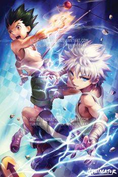Hunter x Hunter - Gon x Killua by yanimator