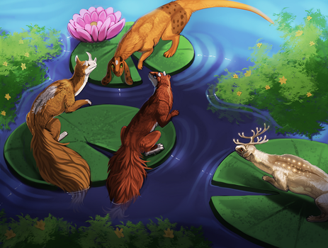 Over the Lily Pads by little-owlette