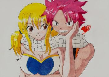 Natsu and Lucy Fairy Tail by Lucy-chan90