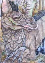 ACEO-Evil grin by A-shanti