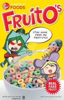 Fruit O's Cereal Box Design by Lehvorak