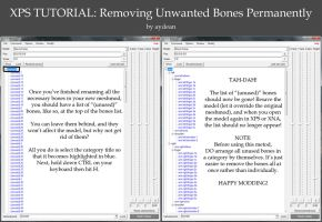 XPS Tutorial- Removing/Hiding Unused Bones by aydean