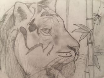 Tiger in the Jungle by LeahStars8