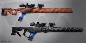 Gauss Sniper Rifles by ianllanas