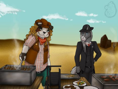 Yacoron - BBQ cowboys with Piston by serpenttao04