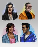 Modern Mass Effect Squad by cciintra