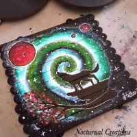 Wolf galaxy painting by NocturnalCreations-x