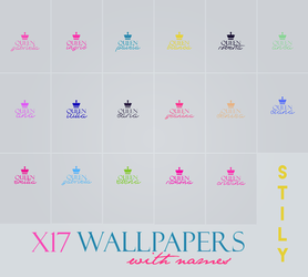 Wallpapers with names by StilyGraphicOFF