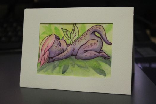 Sleeping Naked Orchid Fairy by Samianne