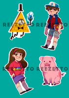 Gravity Falls Stickers by reezetto
