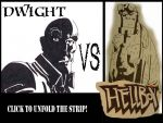 Dwight VS Hellboy Titlepage by ForgetfulRainn