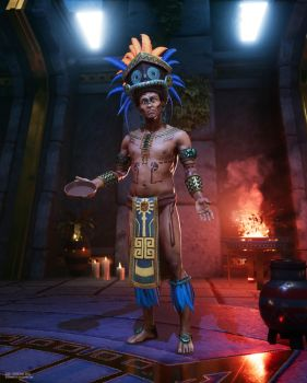 Aztec Priest by Razputin93