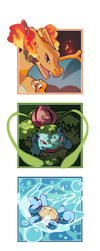 Pokemon Trainers Pokes by Yusiso