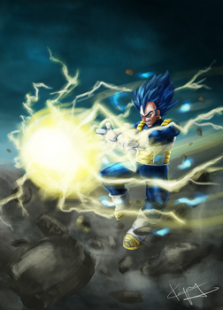 Vegeta Dark Blue by kiayt