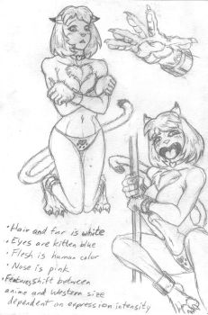 Neko Muse Quick and Dirty Refs by Zaximillian