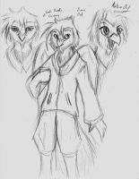 Anthro owl concept by Cane-McKeyton