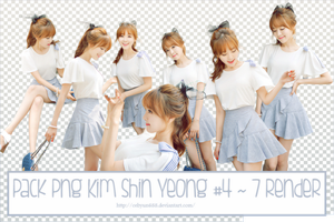 PACK PNG KIM SHIN YEONG #4 ~ 7 RENDER by CeByun688