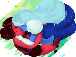 Steven Universe - Ruby and Sapphire by Say-Erizabesu