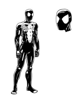 Spider-Man Character Study - Black Costume by stantausan