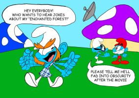 The New Smurf by WaggonerCartoons