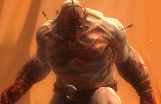 Early stage of Ogre and Orc Painting by CrackMasterK