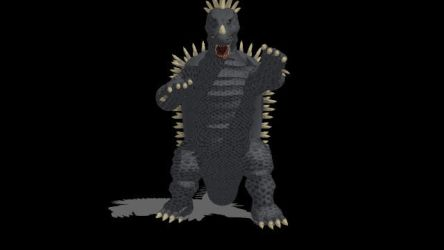 MMD Anguirus By MT DL in the description by spacepatrolgaia