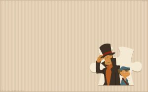 Layton and Luke Wallpaper by zillabean