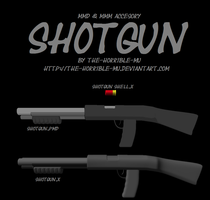[MMD + M3 Accessory] Shotgun + DL by The-Horrible-Mu