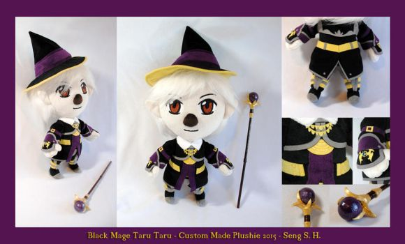 Black Mage Taru Taru Plushie by sewcuteplushies