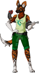 Painted Wolf Mechanic Adopt - OPEN (lowered price) by Kingfisher-Gryphon