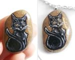 Black Cat Necklace by sobeyondthis