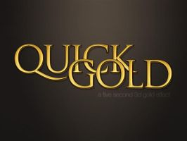 Quick Gold Text Effect by SET07