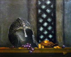 Helm, grapes and gold by v-a-m-p-i-r-o