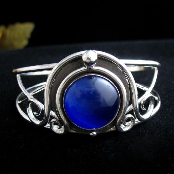 Blue Fire Witchblade Cuff by camias